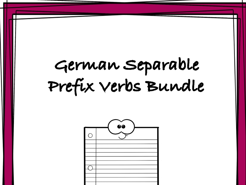 German Separable Prefix Verbs Bundle: TOP 4 Resources @25% (Trennbare Verben)