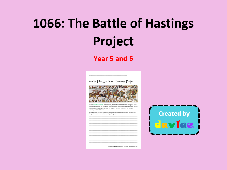 1066: The Battle of Hastings Project for Year 5 and 6