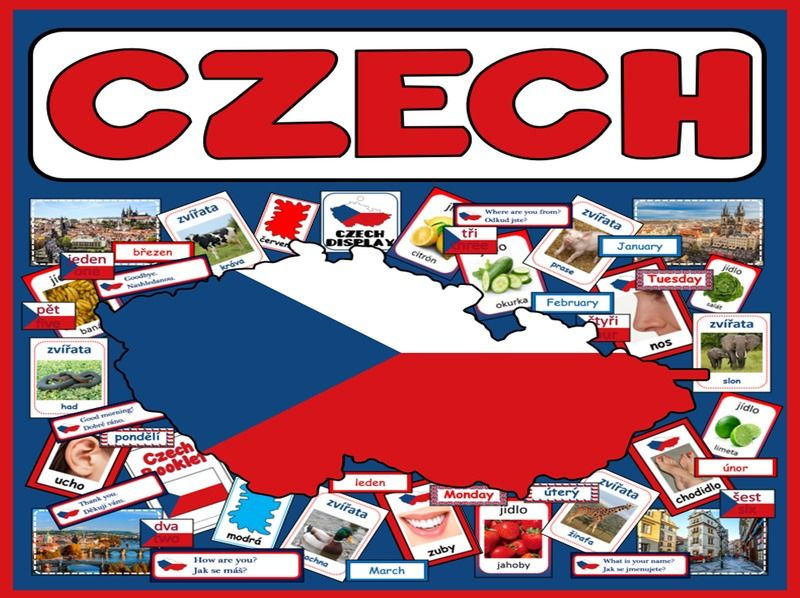 CZECH LANGUAGE TEACHING RESOURCES display posters flashcards colours food ETC