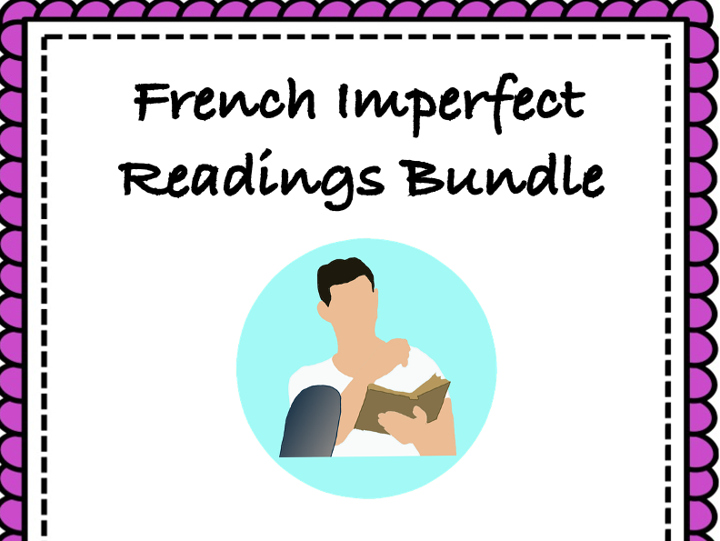 French Imperfect Tense Reading Bundle: Top 5 Readings at 35% off (L'imparfait)