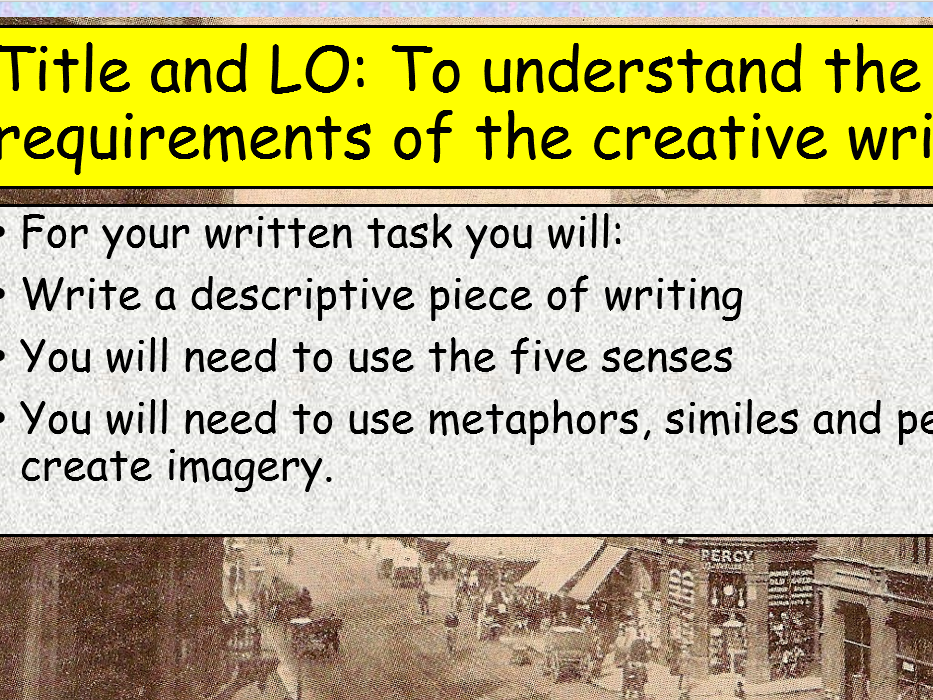 KS3 Reading Analysis and Creative Writing Pack