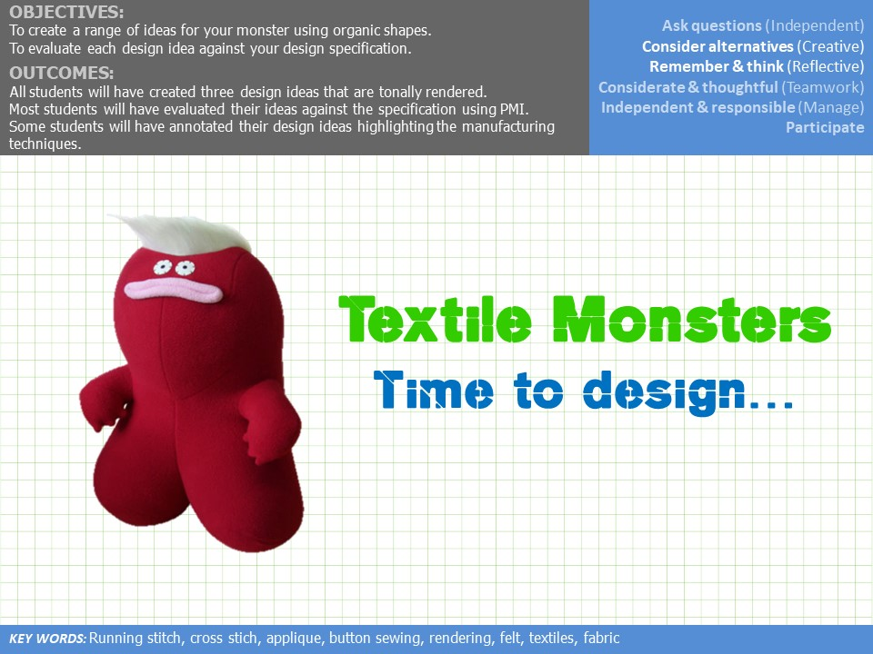 Textile Monster Project Full Power point