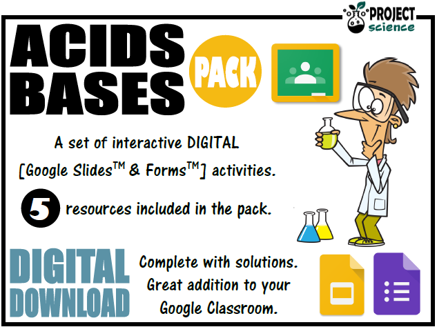 Acids and Bases Digital Resources Pack - Distance Learning