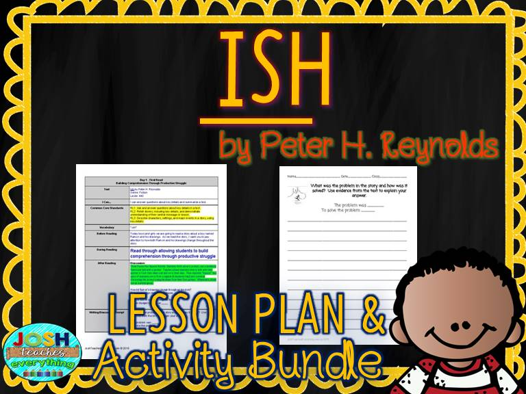 Ish by Peter Reynolds Lesson Plan and Activities
