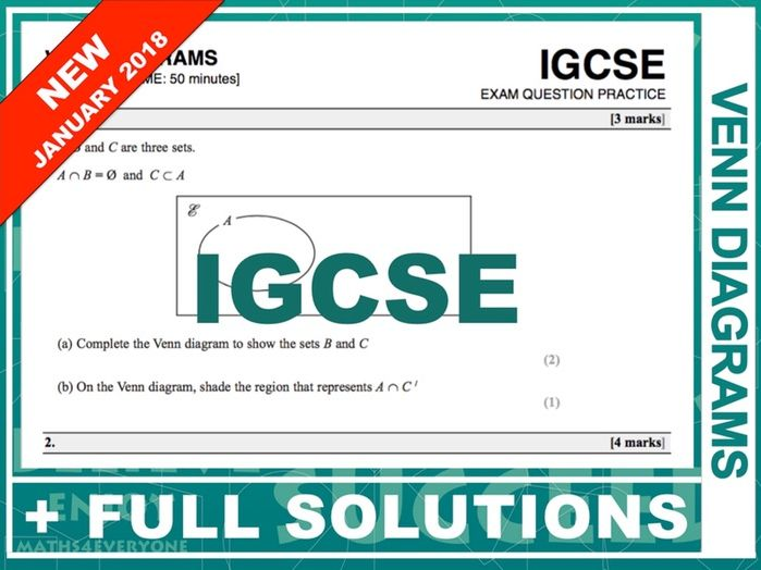 Igcse 9 1 Exam Question Practice Venn Diagrams By Maths4everyone