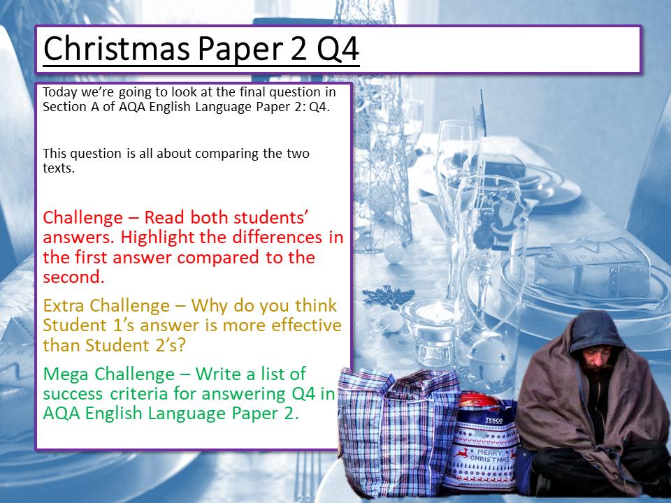 Christmas English Language Paper 2 Q4