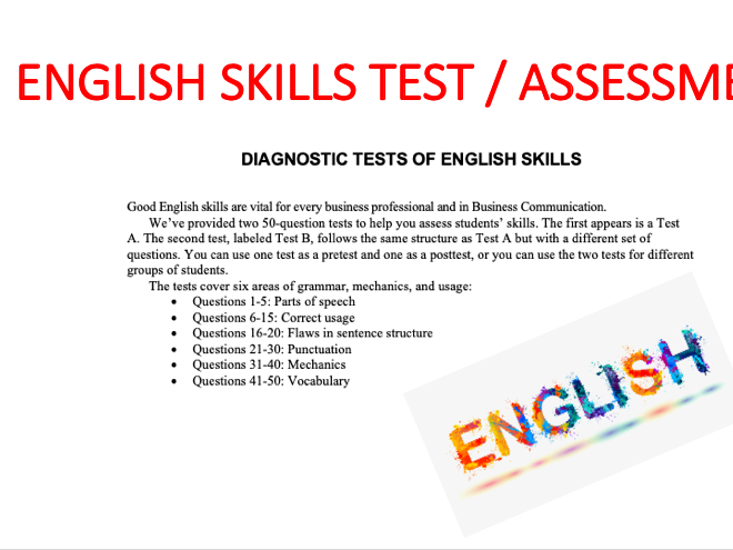 DIAGNOSTIC TESTS OF ENGLISH SKILLS