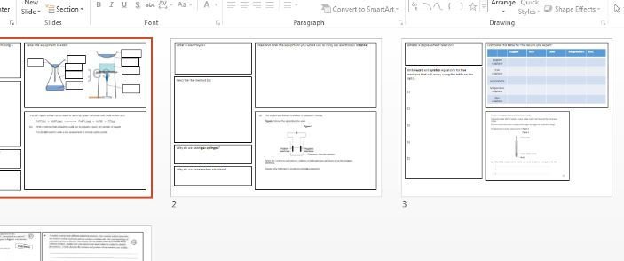Chemistry AQA Trilogy Combined practical revision
