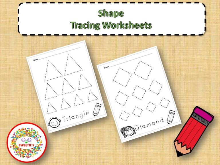 FREE Shape Tracing Worksheets