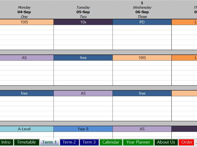 Electronic Planbook: Sample and Order Form