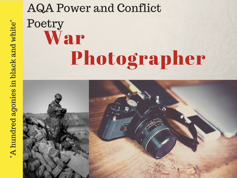 War Photographer - Power and Conflict Poetry - War Poems Lessons 14 & 15