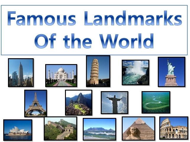 Full Lesson on Famous Landmarks of the World for KS1/KS2/ESL