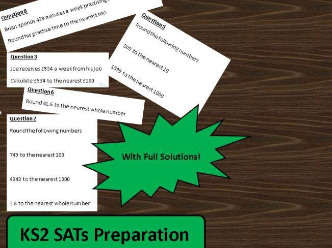 KS2 SATs Rounding Worksheet