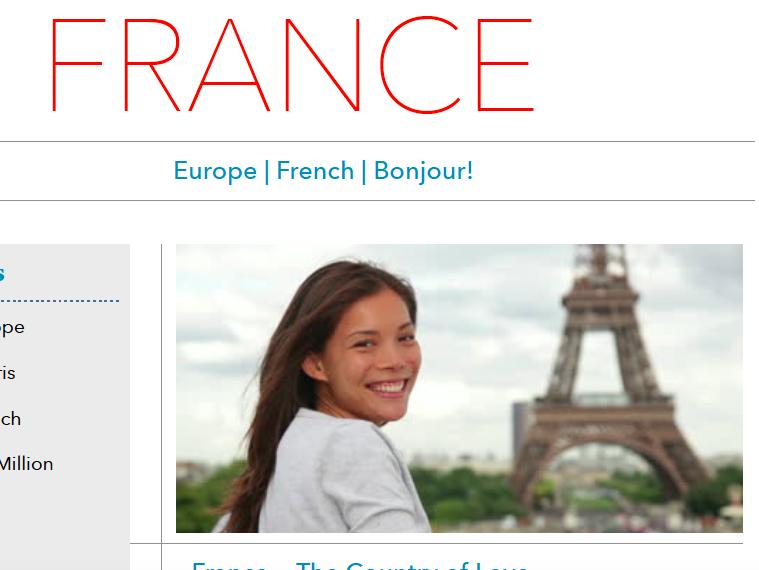Discover France - Printable Worksheet