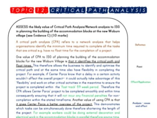 A Level Edexcel Business Theme 3 Model Essays