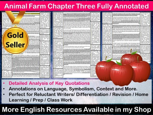 Animal Farm Chapter 3 Fully Annotated