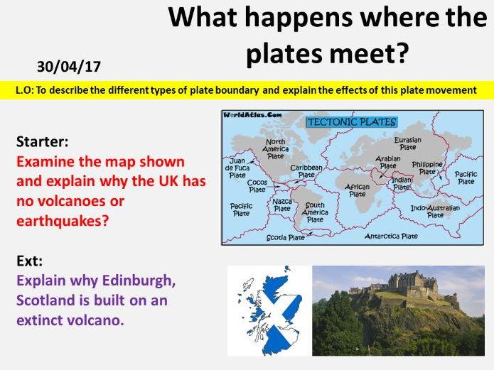NEW OCR GCSE - Natural Hazards: Plate boundaries