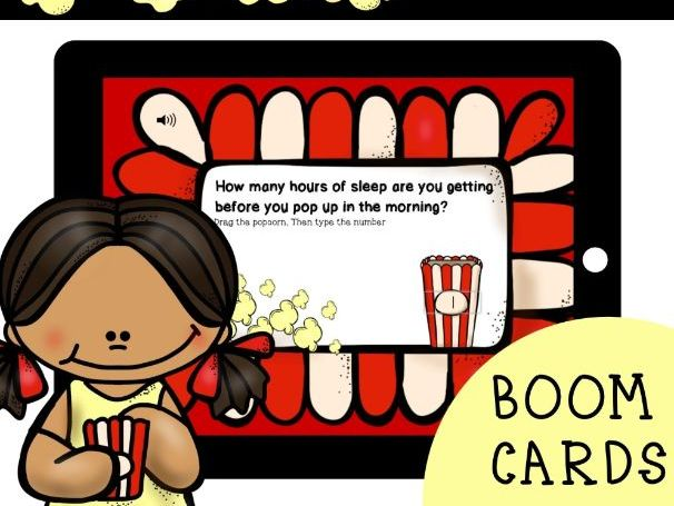 Weekly Check-In: BOOM CARDS (Popcorn Theme)