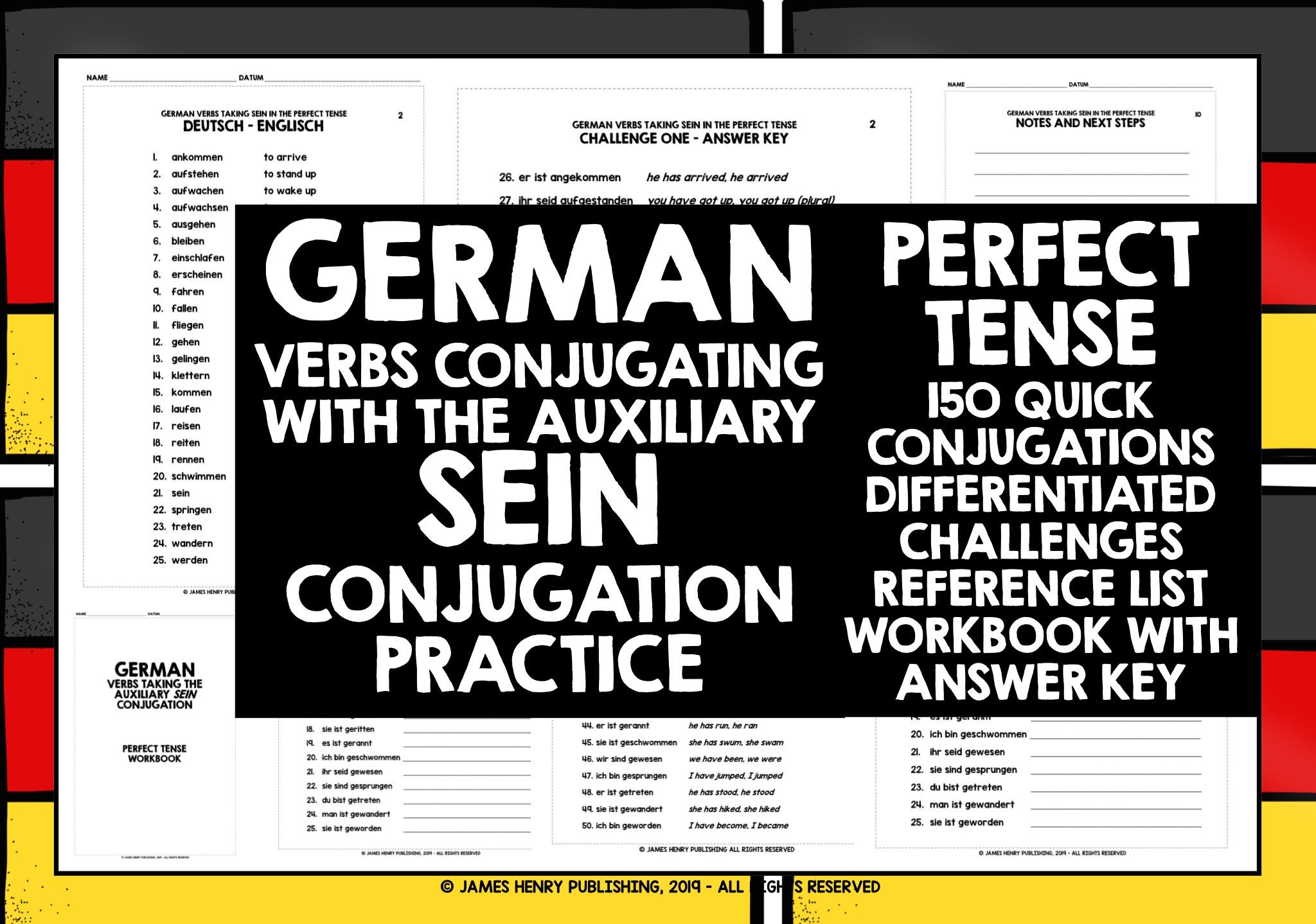 Deutsch sein konjugation Konjugation ser