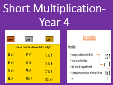Short Multiplication- Year 4