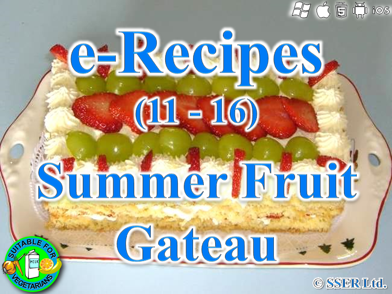 57.   Summer Fruit Gateau (e-Recipe)