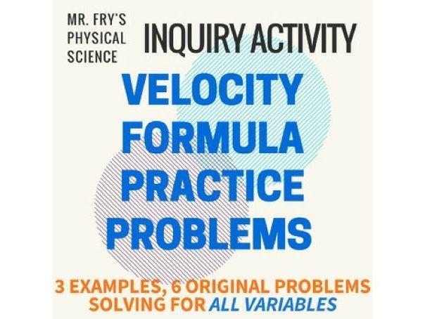 Velocity Formula Practice Problems