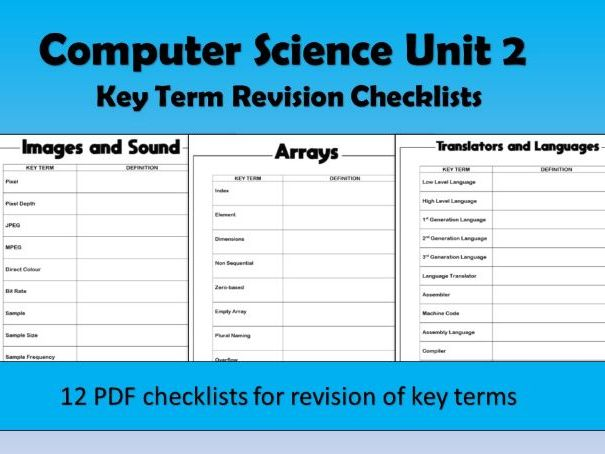 Computer Science Unit 2 Key Terms