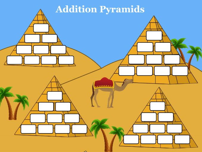 Addition Pyramids Mat (Greek and English)