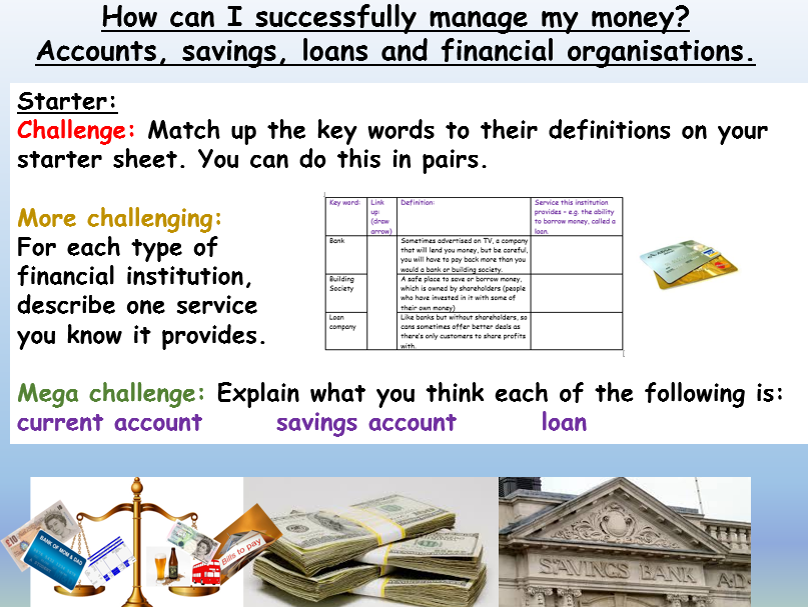 Money & Finances - savings and loans