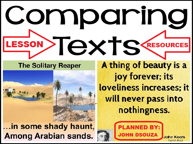 TEXT COMPARISON: LESSON & RESOURCES
