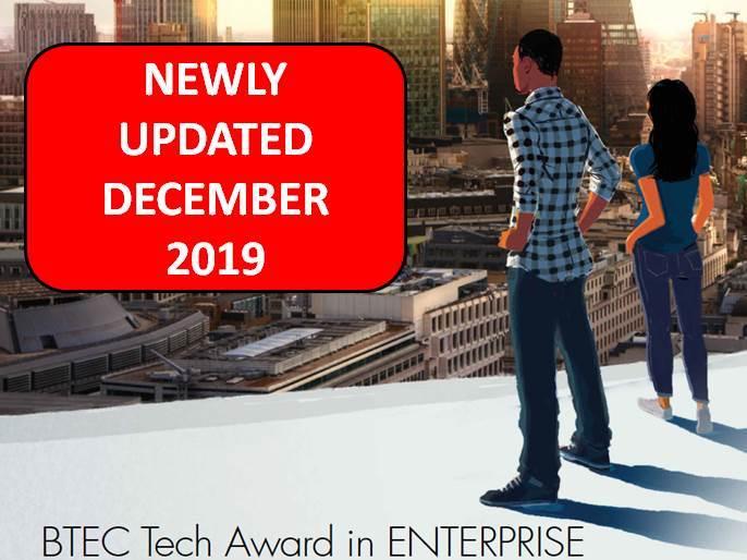 BTEC Tech Award in Enterprise: Unit 3 - Finance for Enterprise (updated Dec 2019)