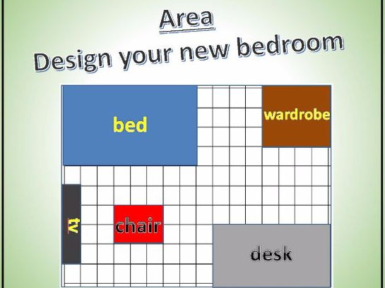 KS1/KS2 Area - Design your bedroom ( 2 lessons with plan, introduction and resources)