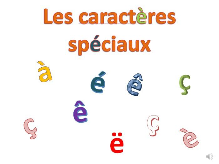 French accents and special characters