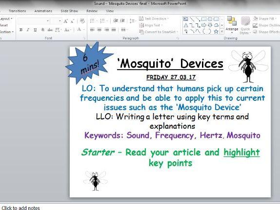Sound - Mosquito device