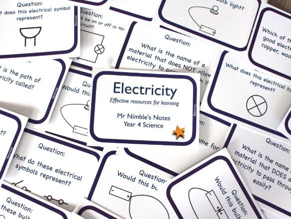 Year 4 Quiz Cards - Electricity