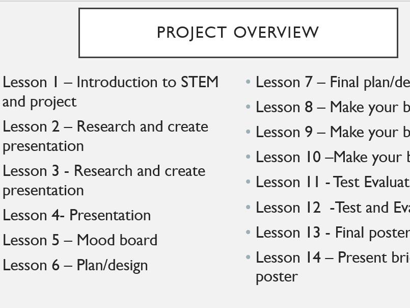 STEM Bridge project