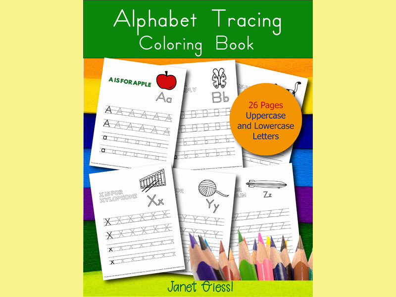 Alphabet Tracing Coloring Book