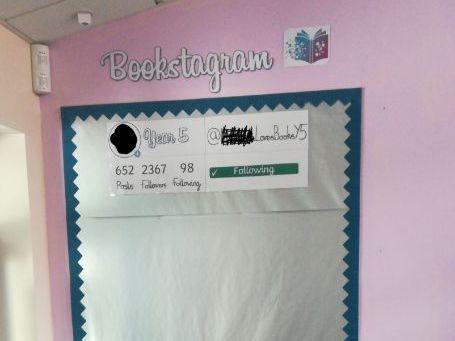 Bookstagram Working Wall Display Year 6