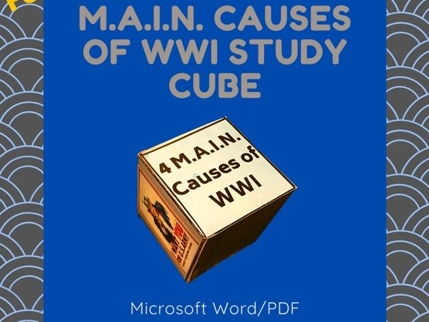 M.A.I.N. Causes of WWI Study Cube
