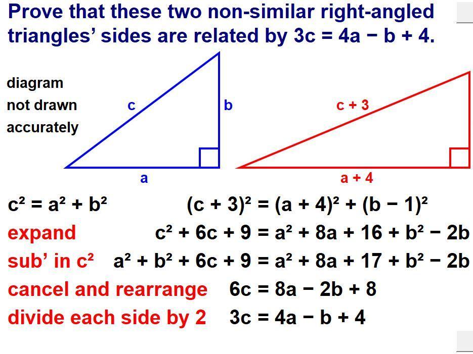Algebraic Reasoning & Proof (Higher)
