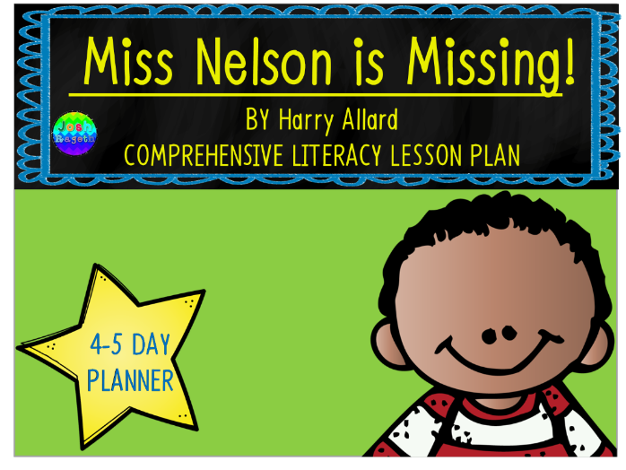 Miss Nelson is Missing by Harry Allard 4-5 Day Lesson Plan
