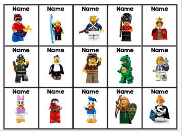 Lego Coat Peg Labels Editable