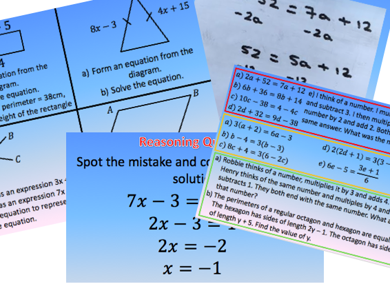 Unknown on Both Sides - Solving Linear Equations