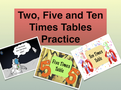 Two, Five and Ten Times Table Practice
