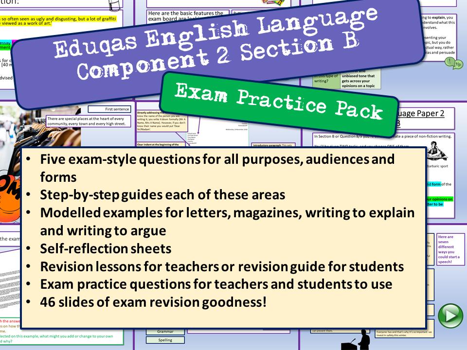Eduqas English Component 2 Section B