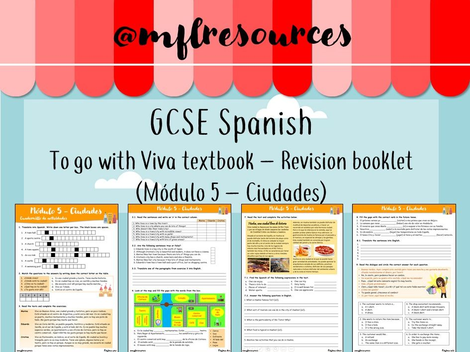 GCSE Spanish - Módulo 5 - Ciudades - Revision booklet