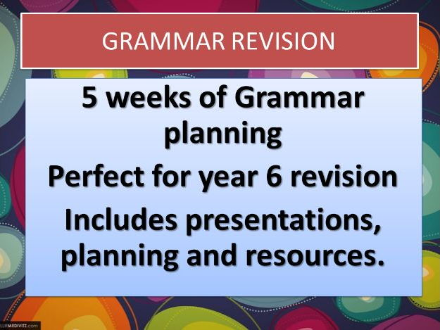 YEAR 6 GRAMMAR BOOSTER RESOURCES