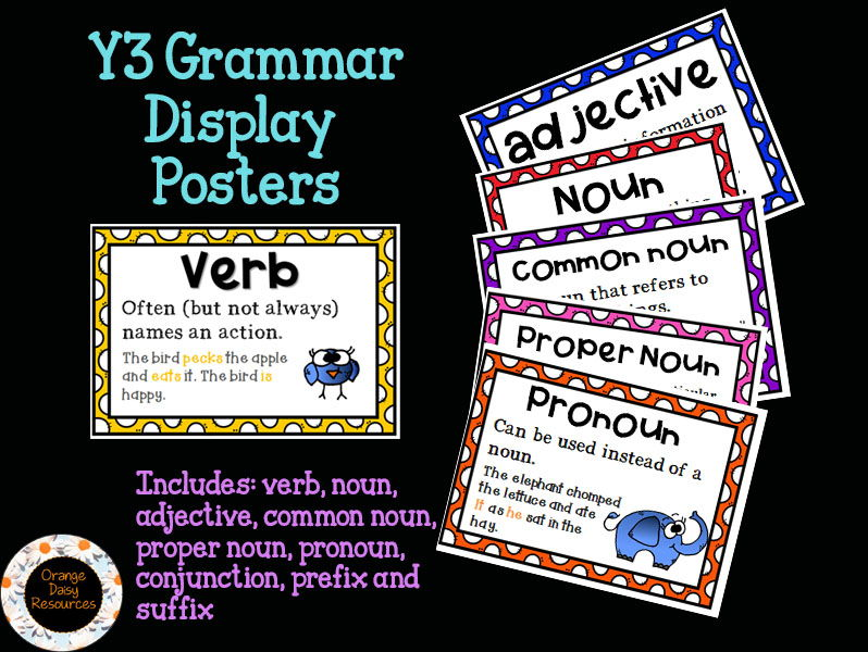 x9 Y3 Grammar Display Posters