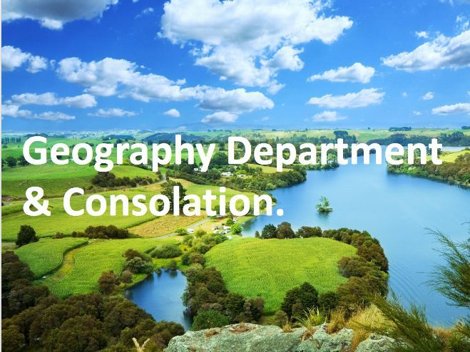 Geography Department and Consolation