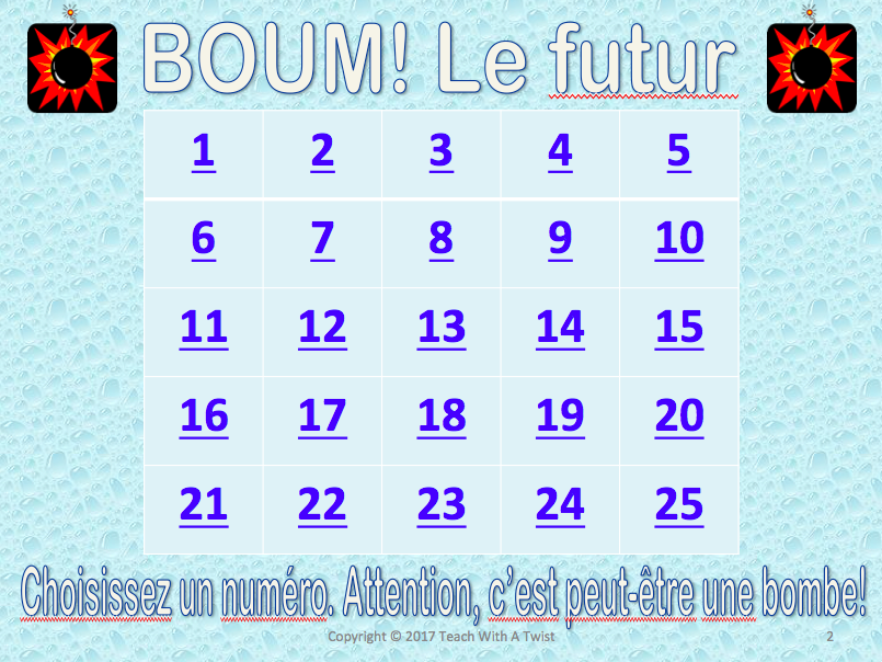 French Future tenses Grammar Review game - futur immédiat et futur simple